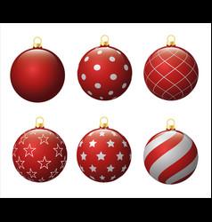 set christmas balls winter holiday collection new vector image