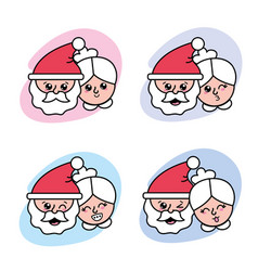 Set merry christmas celebration to holiday vector