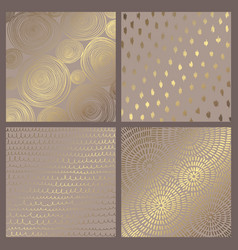 set of elegant backgrounds with gold imitation vector image