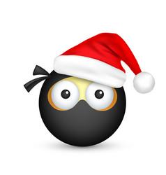 Smileyemoticon black emoji face with emotions vector