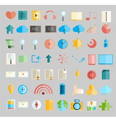 Social network with media icons vector