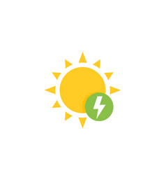 Solar energy icon in flat style vector