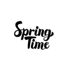 spring time handwritten lettering vector image