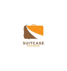 Suitcase graphic design template vector