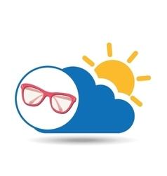 Summer vacation design sunglasses fashion icon vector