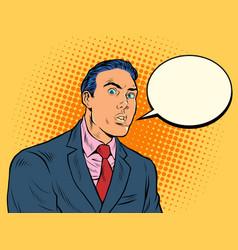surprised man businessman vector image
