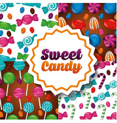 Sweet candy concept vector