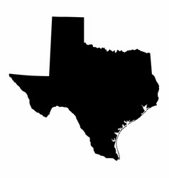 Texas map dark silhouette vector