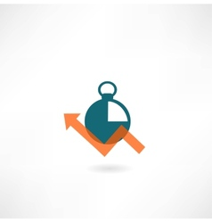 timer icon vector image