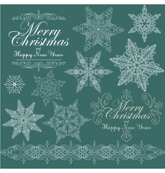 Vintage Christmas background for invitation vector image