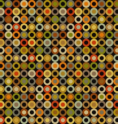 Vintage seamless background round elements dots vector