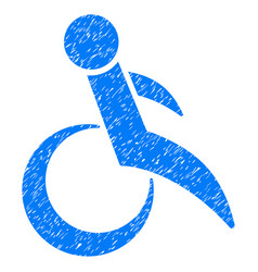 wheelchair grunge icon vector image