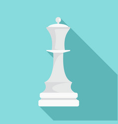 white chess queen icon flat style vector image