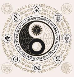 yin yang symbol of harmony feng shui zen vector image