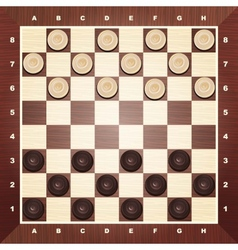 Board with checkers vector image