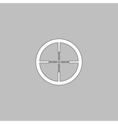 Crosshair computer symbol vector image vector image