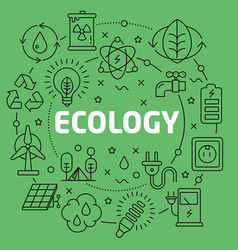 linear ecology vector image vector image