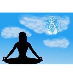 meditation vector image vector image