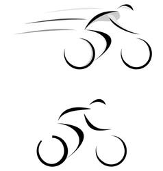 racing cyclist sketch vector image vector image