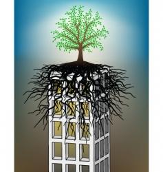 tower block tree vector image
