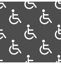 Wheelchair seamless pattern vector image