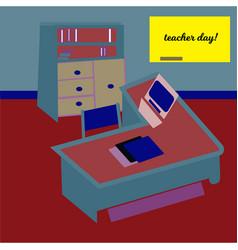 Happy teacher s day concept on green chalkboard vector
