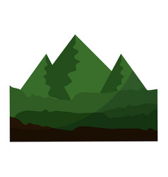 isolated mountains view vector image vector image