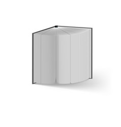 open book on white background mockup template vector image vector image