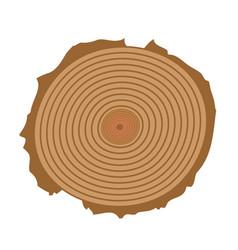 tree cut tree cut realistic icon vector image