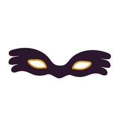 black carnival mask icon vector image vector image
