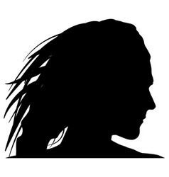 black woman silhoutte on white background vector image