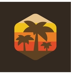 Island palm holiday at sunset vector image vector image