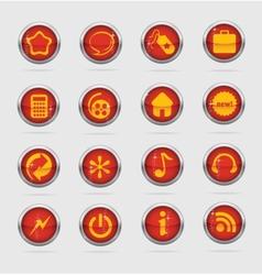 Web and creative metal cirlcle symbols vector image vector image