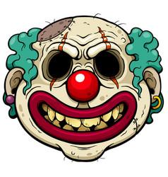 Clown zombie vector