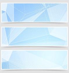 Crystal header collection templates set design vector image