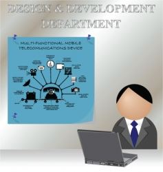 design development vector image vector image