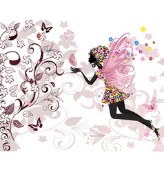 fairy pattern vector image