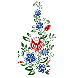 floral element flowers and leaves design element vector image