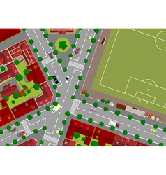 football field in town vector image vector image