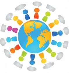 global dialog vector image