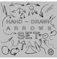 Hand-drawn arrows set vector