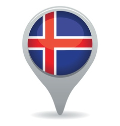 icelandic flag pointer vector image