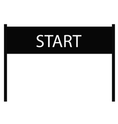 start icon on white background start sign flat vector image vector image