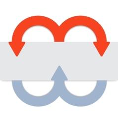 2 color arrows vector image