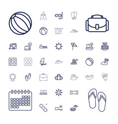 37 vacation icons vector
