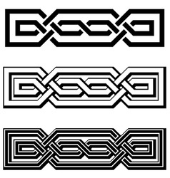 3d endless celtic knots black white vector