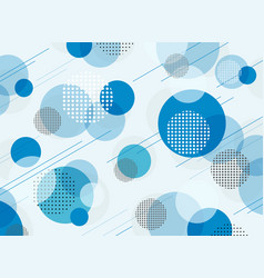 abstract of simple blue geometric pattern vector image