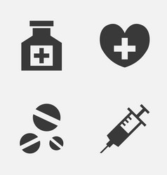 Antibiotic icons set collection heal vector