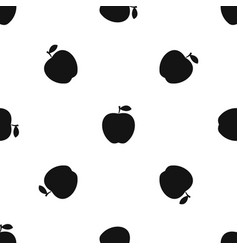 Apple pattern seamless black vector