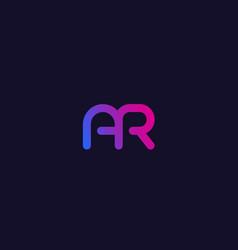Ar letters initials logo vector